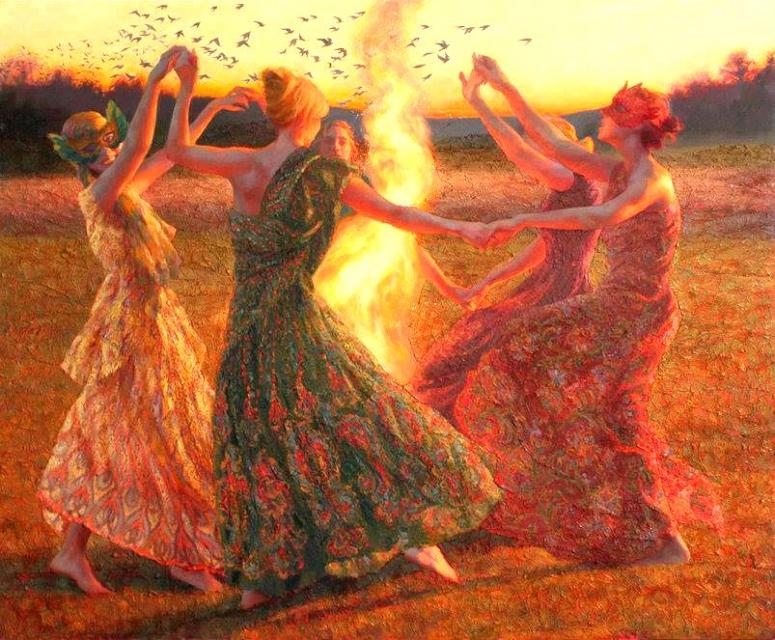 поле, через танцы кругом фото россии
